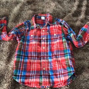 Baby GAP Plaid Button Down Shirt